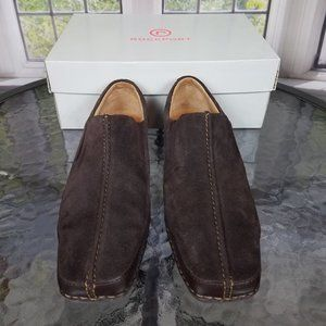 ROCKPORT BROWN SUEDE SLIP-ON SHOES (8M)
